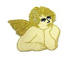 Applikation Patch Engel 5 x 4,5cm Farbe: Beige-Gold