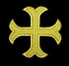 1 Applikationen Kreuz Farbe: Lurex-Gold 2,2 x 2,2cm