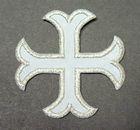 1 Applikationen Kreuz Farbe: Lurex-Silber 2,2 x 2,2cm