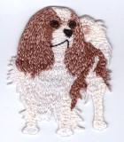 Applikation Patch Sticker Hund Charles Spaniel 6 x 5,7cm