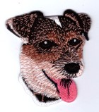 Applikation Patch Sticker Hund Terrier 6 x 7cm