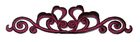 hist. Applikation Patch 12 x 3cm Farbe: Bordeaux