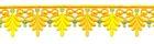 2 Rapporte 12,5x3cm Farbe: Gelb-Orange-Gold
