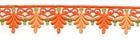 2 Rapporte 12,5x3cm Farbe: Terracotta-Gold
