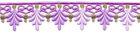 2 Rapporte 12,5x3cm Farbe: Violett-Gold