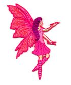 Applikation Patch Elfe Fee 6x9cm Farbe: Pink
