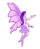 Applikation Patch Elfe Fee 6x9cm Farbe: Violett