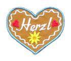 Landhaus Trachten Applikation Wiesn Herz Herzl 5 x 4cm
