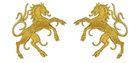 1 Paar Applikationen Wappen Pferd 6,5 x 11cm Farbe: Lurex-Gold