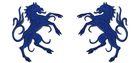 1 Paar Applikationen Wappen Pferd 6,5 x 11cm Farbe: Royalblau
