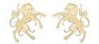 1 Paar Applikationen Wappen Pferd 6,5 x 11cm Farbe: Beige