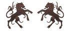 1 Paar Applikationen Wappen Pferd 6,5 x 11cm Farbe: Dunkelbraun