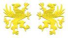 1 Paar Applikationen Wappen Adler Greif 11 x 6cm Farbe: Gelb