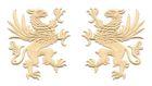 1 Paar Applikationen Wappen Adler Greif 11 x 6cm Farbe: Beige