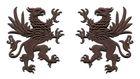 1 Paar Applikationen Wappen Adler Greif 11 x 6cm Farbe: Dunkelbraun