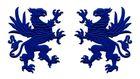 1 Paar Applikationen Wappen Adler Greif 11 x 6cm Farbe: Royalblau