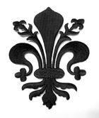 Applikationen Wappen Königslilie Fleur de Lis 8,2 x 11cm Farbe: Schwarz