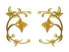Applikation Landhaus Patch Tribal Arabeske 14 x 10cm Farbe: Lurex-Gold
