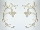 Applikation Landhaus Patch Tribal Arabeske 14 x 10cm Farbe: Lurex-Silber
