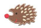 Applikation Patch Bügelbild Igel 7 x 4,7cm Farbe: Braun-Hellbraun