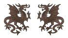 1 Paar Applikationen Wappen Drachen 14,4 x 10cm Farbe: Dunkelbraun