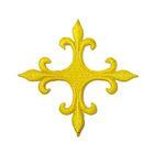 Applikation Fleur de Lis Kreuz 8 x 8cm Farbe: Gelb