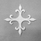 Applikation Fleur de Lis Kreuz 6,5 x 6,5cm Farbe: Weiss