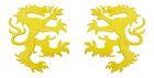 1 Paar Applikationen Wappen Wolf 16,8 x 9,4cm Farbe: Gelb