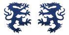 1 Paar Applikationen Wappen Wolf 16,8 x 9,4cm Farbe: Dunkelblau