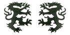 1 Paar Applikationen Wappen Wolf 16,8 x 9,4cm Farbe: Schwarz