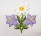 1 Stück Edelweiss-Applikationen Wiesn Trachten Farbe: Flieder