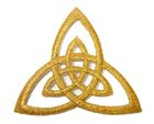 Applikation Patch Triade Celtic Trinity Ø 6,5cm Farbe: Lurex-Gold