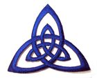 Applikation Patch Triade Celtic Trinity Ø 6,5cm Farbe: Blau