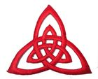 Applikation Patch Triade Celtic Trinity Ø 6,5cm Farbe: Rot