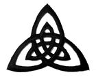 Applikation Patch Triade Celtic Trinity Ø 6,5cm Farbe: Schwarz