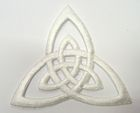 Applikation Patch Triade Celtic Trinity Ø 6,5cm Farbe: Weiss