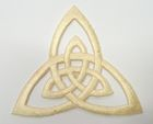 Applikation Patch Triade Celtic Trinity Ø 6,5cm Farbe: Beige