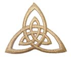 Applikation Patch Triade Celtic Trinity Ø 6,5cm Farbe: Hellbraun