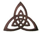 Applikation Patch Triade Celtic Trinity Ø 6,5cm Farbe: Dunkelbraun