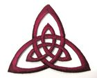 Applikation Patch Triade Celtic Trinity Ø 6,5cm Farbe: Bordeaux
