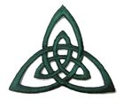 Applikation Patch Triade Celtic Trinity Ø 6,5cm Farbe: Tannengrün