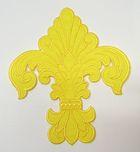 Applikation Patch Königslilie Fleur de Lis 6,5 x 7,5cm Farbe: Gelb