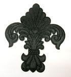 Applikation Patch Königslilie Fleur de Lis 6,5 x 7,5cm Farbe: Schwarz
