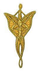 Applikationen Amulett Star Elben 3,6 x 7,1cm Farbe: Lurex-Gold
