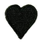Applikation Sticker Herz 2,4 x 2,4cm Farbe: Schwarz