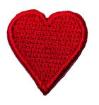 Applikation Sticker Herz 2,4 x 2,4cm Farbe: Rot