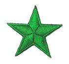 Applikation Sticker Stern  4,3 x 4,3cm Farbe: Grün