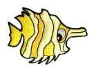 Applikation Patch Sticker Fisch 7 x 5,2cm