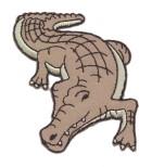 Applikationen Patch Krokodil 7 x 7,5cm Farbe: Hellbraun