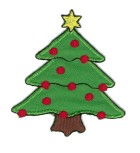 Applikation Patch Sticker Weihnachtsbaum 7 x 8,8cm